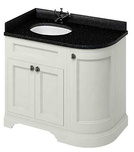 Casa Padrino Waschschrank/Waschtisch mit Granitplatte und 3 Türen 98 x 55 x H. 93 cm, Farbe Badmöbel:Sand