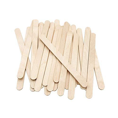 Varitas para helado, madera natural, 100 unidades