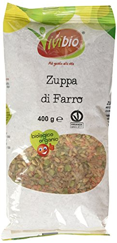 Vivibio VVB Zuppa Di Farro Bio, 400 gr (Confezione da 6 pezzi)