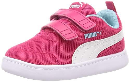 PUMA Unisex-Kinder Courtflex V2 Mesh V Inf Sneaker, Helle Rose-Golfstrom, 26 EU