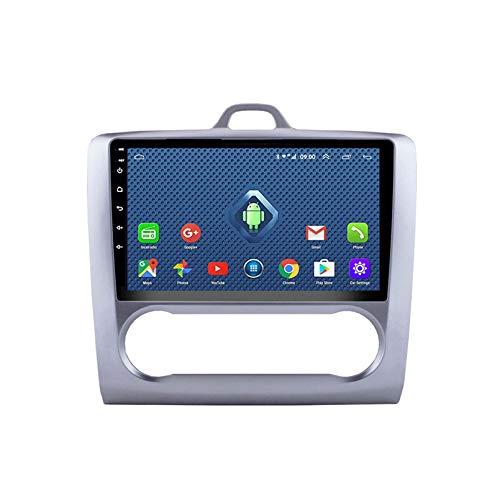 SDFLKH Android 8.1 Radio De Automóvil para Focus 2006-2014 Coche Estéreo GPS Navegación Táctil Pantalla Player Player Double DIN Head Unit Support WiFi Control De Volante(Size:B,Color:4G+WiFi:2+32G)