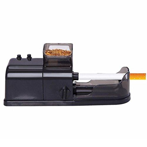 Fheaven New Mini Cigarette Rolling Machine Electric Automatic Maker Tobacco Roller DIY Cigarette Injector Machine (Black)