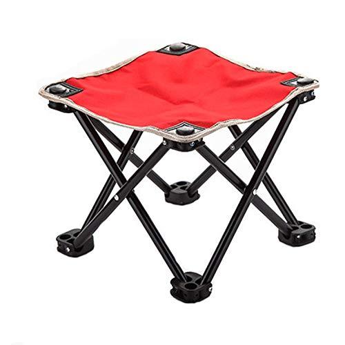Taburete plegable portátil, ligero al aire libre, taburete plegable, tela Oxford, silla plegable pequeña al aire libre, barbacoa, pesca, senderismo, playa, silla de jardín, equipo de camping