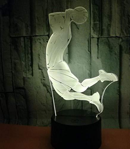 Luces nocturnas Ilusión 3D lámpara de proyección lámpara tiroteo Decoración Del Hogar Regalo De Cumpleaños Para Niños Habitación De Niños Con interfaz USB, cambio de color colorido