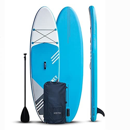 Tabla De Sup Hinchable 305 X 81 X 15Cm Tabla De Stand Up Paddle para Adolescentes Y Adultos Tabla De Paddle Surf con Línea De Seguridad, Remo, Bomba, Aleta Central, Mochila