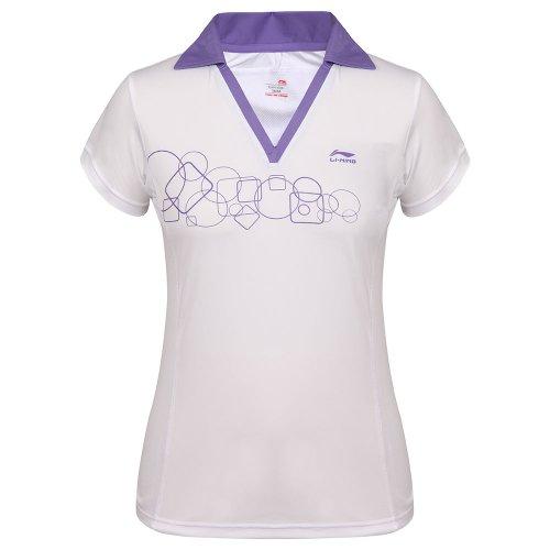 Li-Ning t-Shirt pour Femme a286 Flexible Large Blanc - Blanc