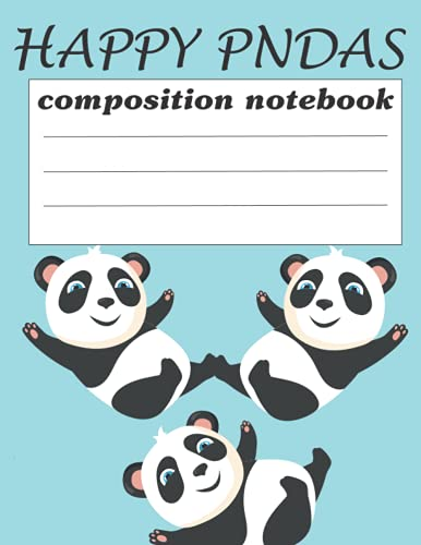 happy panda notebook: pandas journal diary notebook