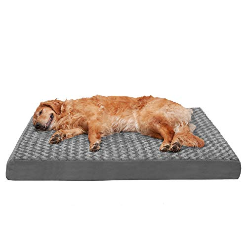 Furhaven Deluxe Traditional Jumbo Mattress Pet Bed