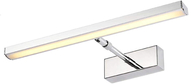 Rindasr Modernes Badezimmerlicht der Einfachheit LED wasserdichter Spiegel-Scheinwerfer, Schlafzimmerdekorationswandleuchte, Qualittsacryl (Farbe   Warm Light, Größe   19in)