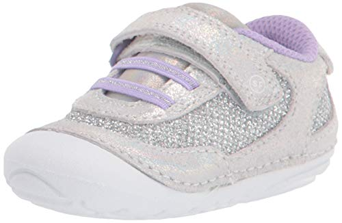 Stride Rite Baby Girls Soft Motion Jazzy Sneakers, Iridescent, 4.5 Infant