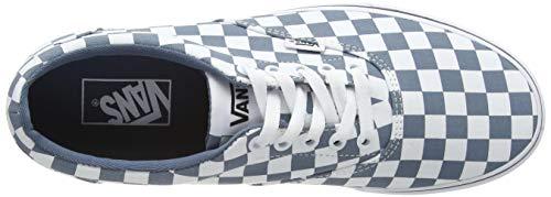 Vans Doheny, Scarpe da Ginnastica Uomo, Multicolore Scacchiera Blu Mirage Bianco W50, 42 EU