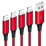 HONGDA Cable Phone, [4Pack 0.3M 1M 2M 3M] Cable Cargador Phone Nylon Trenzado Cable USB de Carga Rápida Compatible con Phone 11 Pro/11 Pro Max/Xr/Xs/X/8/8 Plus/7/6s/6Plus/6/Pad/Pod y más