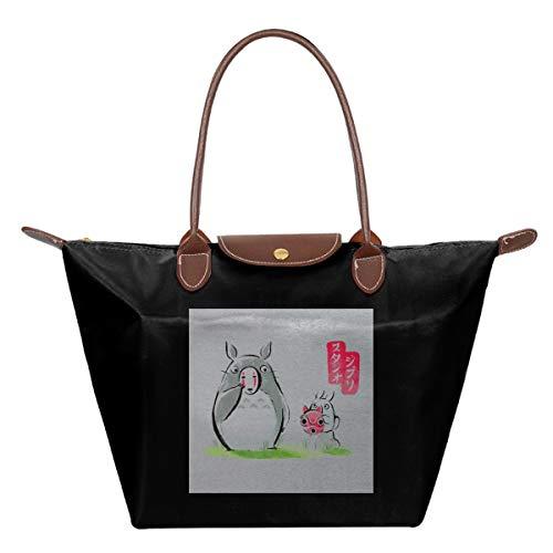 Mijn Buurman Totoro Ghibli Maskers Waterdichte Lederen Gevouwen Messenger Nylon Tas Reizen Tote Hopping Vouwen School Handtassen