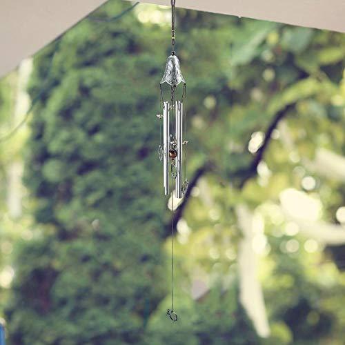 AUNMAS Outdoor multi-tube windgongen, vintage, hangend, rustgevende ontspannende memoordaal, melody, musical zink-legering, klokken, tuin, decoratie, verjaardagscadeau voor Kerstmis