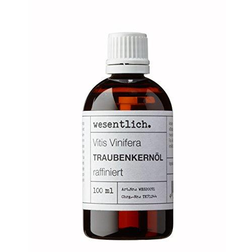 Traubenkernöl 100ml - 100% reines Öl (Vitis Vinifera Seed Oil) von wesentlich.