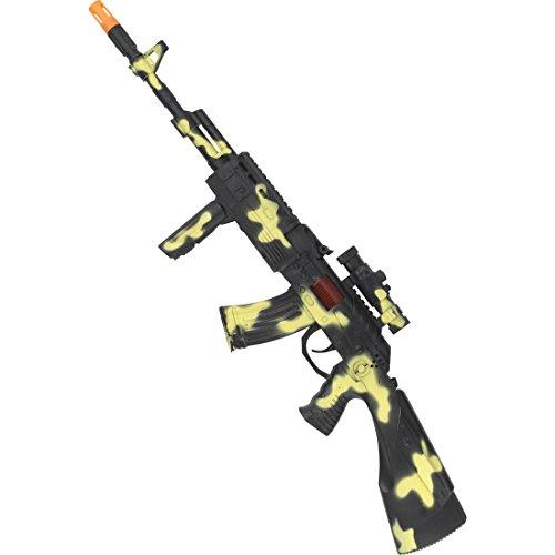 Volume di consegna: 1 fucile Taglia: 59 cm Colore: colore mimetico Composizione: 100% plastica Informazioni supplementari: Dimensioni: 59 cm