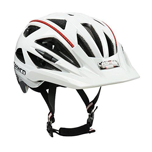 Fahrradhelm Casco Activ 2, weiß-schwarz - Biese rot, Gr. M (56-58 cm)