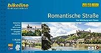 Romantische Strasse 1:75.000: Von Wuerzburg nach Fuessen. 1:75.000, 503 km