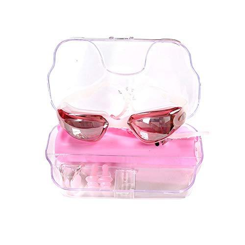 Flouu zwembril in vier delen, siliconen band in levensmiddelenkwaliteit, condensvrije en condensvrije lenzen van polycarbonaat voor kinderen van 5 tot 15 jaar