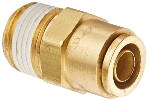 Eaton Weatherhead 1868X8X8 Brass CA360 D.O.T. Air Brake Tube Fitting, Male Connector, 1/2' NPT Male x Tube OD