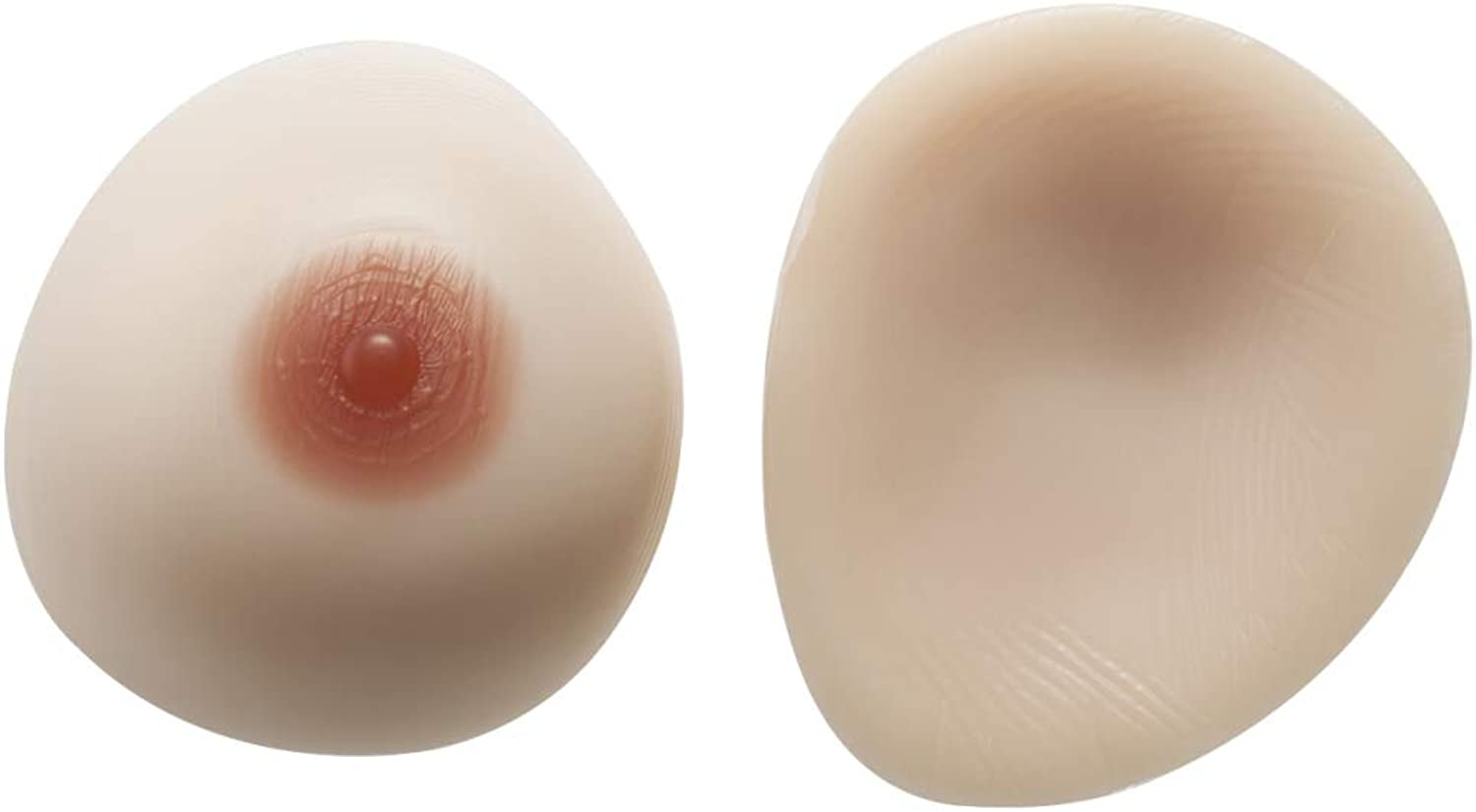 False Breast Safe Material Breast Silicone Breast Artificial Boobs Silicone Chest 1 Pair Dropshaped Breasts,SkincolorSelfStickingL1.8Lb Pair