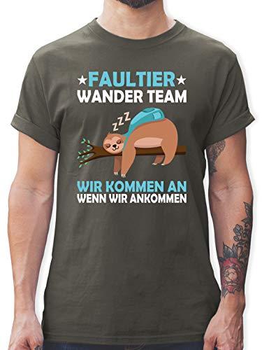 Sprüche - Faultier Wander Team - M - Dunkelgrau - Tshirts 3XL - L190 - Tshirt Herren und Männer T-Shirts