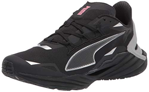 PUMA mens Ultraride Running Shoe, Puma Black-metallic Silver, 6.5 US