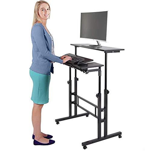 Stand Up Computer Desk, Multi-Purpose Height Adjustable Laptop Desk Table Mobile Ergonomic Stand up Desk Computer Workstation