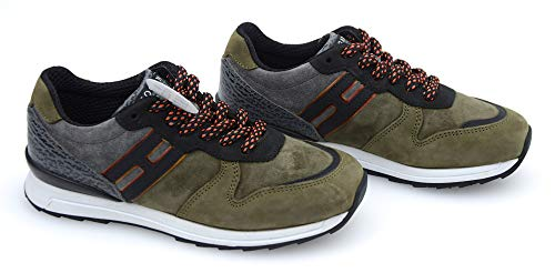 Hogan Rebel R261BAMBINO Bambina Scarpa Sneaker Casual Art. HXC2610Q901E4X0XJ0 33 Grigio E Tortora - Grey And Taupe