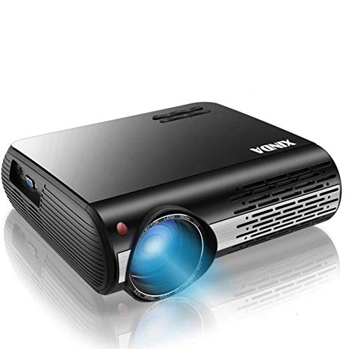 1080P Projector,XINDA 6200 Lux Projector ,±50°4D Keystone Correction with X&Y Zoom,4K Home Theater Projector,Home &Business Projector for TV Stick,Smartphone,PC,Box,PS4,HDMI,VGA,USB