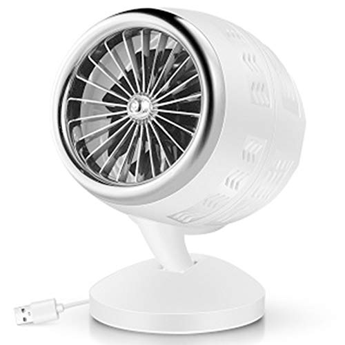 FASZFSAF Mini Ventilador Escritorio USB, Ventilador Mesa Silencioso Ajustable, Ventilador Personal con BateríA Recargable, para Mesa Escritorio Dormitorio Oficina en Casa,Plata
