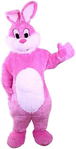 Kleidung zum Feiern Hasen-Kostüm Super Deluxe   Bis Max.1,65m  l e   Größer Bauch   Osterhase   Promotion-Qualität   Mit Kopf   Rosa Weiß