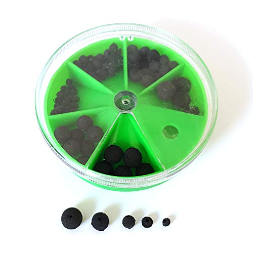 Zite Fishing Soft Gummi-Perlen Angeln Sortiment - 100 Stück Stopper-Perlen Set - Schnur-Stopper Gummi-Stopper 2-8mm