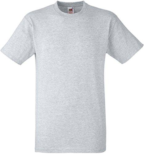 Fruit of the Loom Herren Heavy Cotton T T-Shirt, Grau (Heather Grey 123), Large