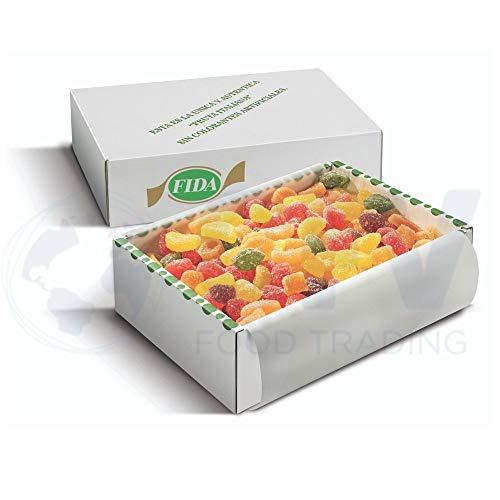 Fida Auténtica Fruta Italiana-Sabores Surtidos, Caja De 3 Kilos Y 15 Bolsitas De Plástico Para Su Reenvasado