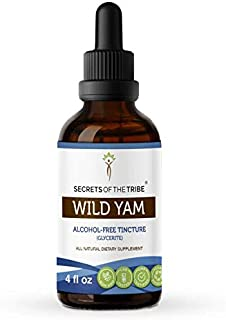 Sponsored Ad - Secrets Of The Tribe Wild Yam Alcohol-Free Tincture (Glycerite) 695 mg Responsibly farmed Organic Wild Yam ...