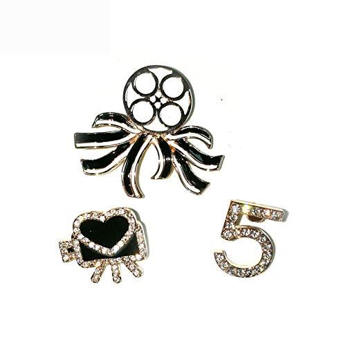No.5 brooches set Lapel Pins Bijouterias Broach Jewelry For Women 3pcs/set hijab pin set cc broach Jewelry
