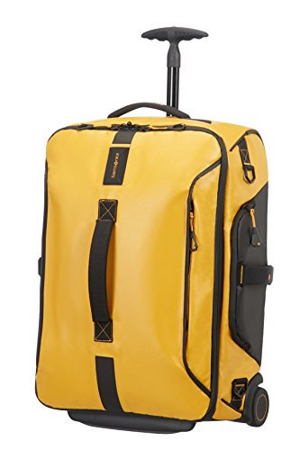 Samsonite Paradiver Light Borsone, Zaino con 2 Ruote S, 55 cm, 51 L, Giallo (Yellow)