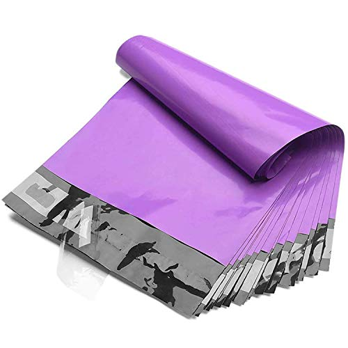 Fuxury 6x9 200pc Purple Poly Mailers Shipping Envelops Self Sealing Envelopes Boutique Custom Bags Enhanced Durability Multipurpose Envelopes Keep Items Safe Protected