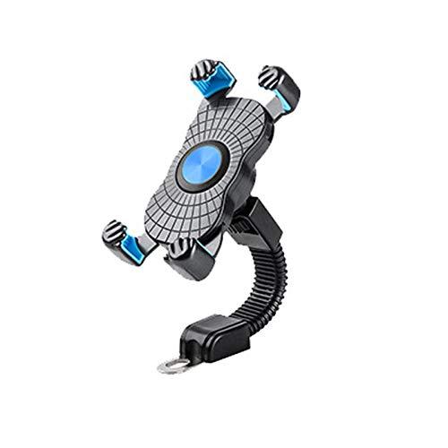 Soporte de teléfono móvil de la Motocicleta Montaje del Motor de electromobile 3.5-6.5 Pulgadas Soporte de teléfono para teléfono móvil Universal (Color : 1 PC Blue)