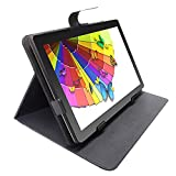 Android Tablet 10.1 inch with Stand Cover Case, WiFi Tablets Voice Control with Google Assistant, 2GB RAM, 32GB ROM, 1.5GHz, Dual Speakers, Metal Body, Gold