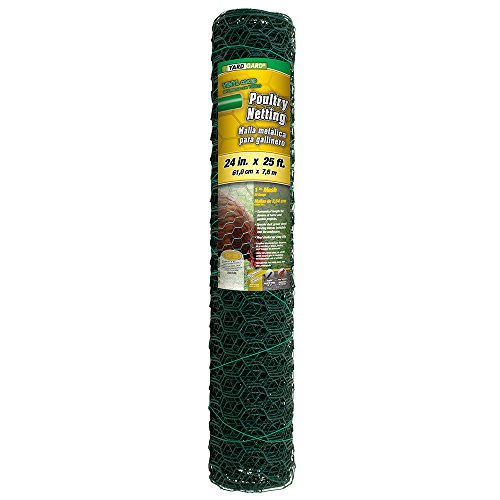 YARDGARD 308452B Poultry Netting Fence 24 Inch x 25 Foot, Color-Green