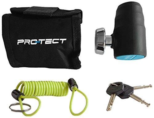Protect Pro-TECT Unisex Bloqueo de Freno de Disco ágata Art-4, Negro, un tamaño