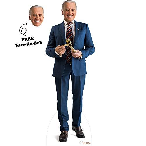 AT TEN Joe Biden Cardboard Cutout Standee Standup Life Size Joe Biden Cutout Realistic Set of 2 Joe Biden Mask Biden Poster Joe Biden Celebrity Mask