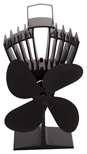 NAYY Pelletofen Holzofen Ventilator, Mini-Größe 4 Klingen Kamin Fan Silent-Eco Herd Ventilator for Gas/Pellet/Holz/Log Kaminöfen