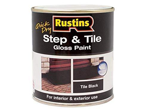 Rustins STBLW250 Quick Dry Step & Tile Black 250ml
