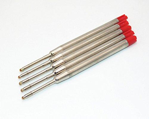 5 X Compatibile Parker Ricariche per A SFERA NERO MEDIO / Blu/Rosso/Verde / Rosa - Rosso