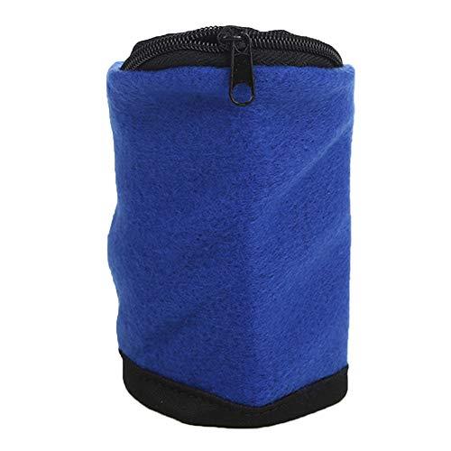enjtsgyt Geldbörse zum Laufen/Handgelenk, abwischbar, mit Reißverschluss, Geldausweis/Schlüssel, blau
