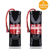 AWANFI 8.4V NiMH Battery 7-Cell 3600mAh NiMH Hump Pack NiMH RC Battery with Deans Plug for Most 1/10 Scale RC Car RC Truck RC Boat Traxxas LOSI Associated HPI Kyosho Tamiya Hobby(2 Pack)