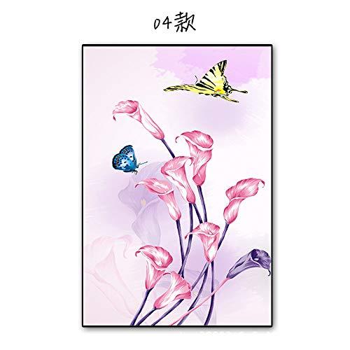 TFOOD raamfolie, esthetiek met motief bloem vlinder privacy statische cling matte stickers ondoorzichtig glas decor zelfklevende UV-bescherming voor keuken badkamer woonkamer